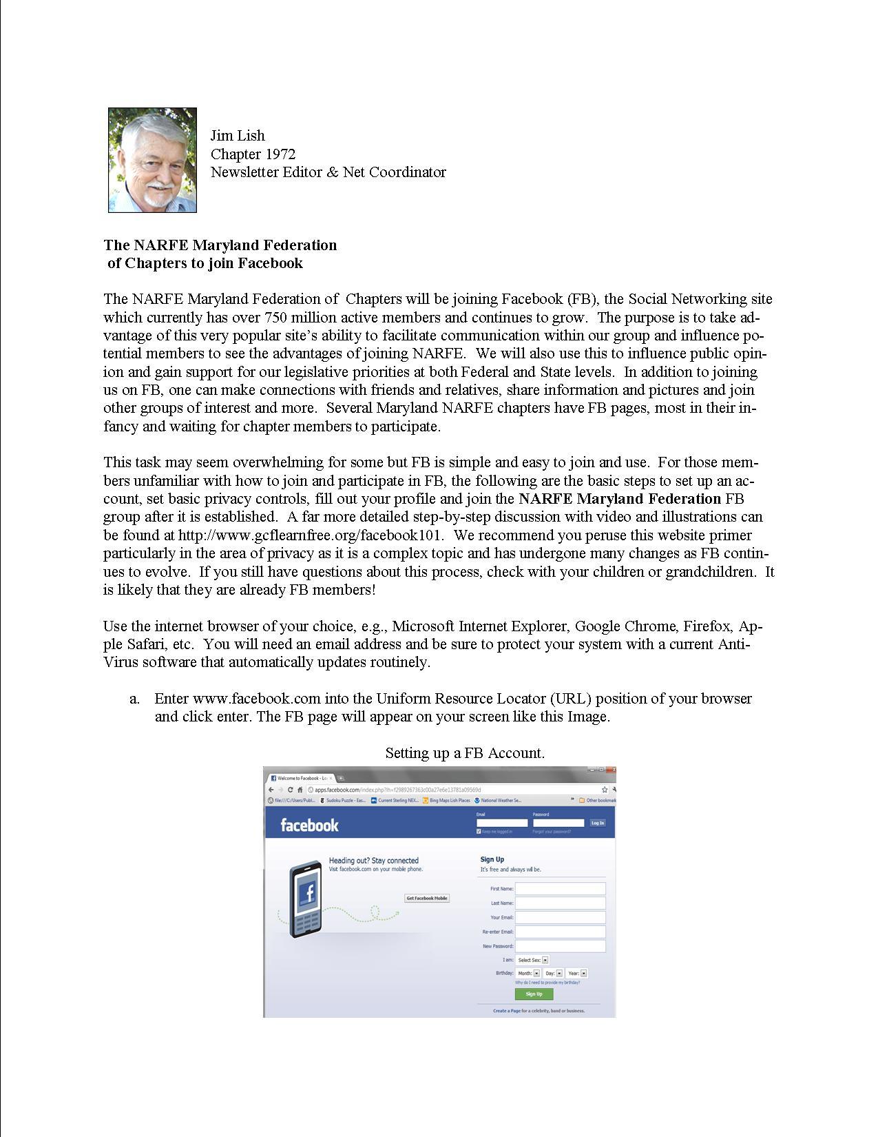 NARFE Maryland Federation FB page